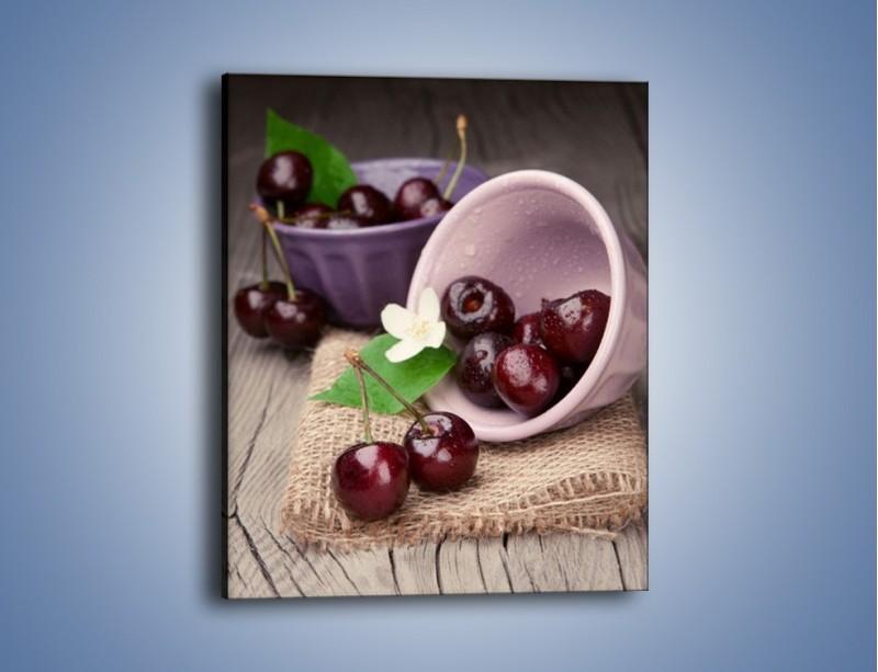 Obraz na płótnie – Wiśnie w małych pucharkach – jednoczęściowy prostokątny pionowy JN399