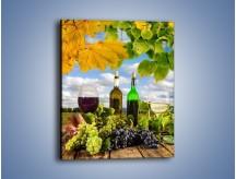 Obraz na płótnie – Wino w jesiennych klimatach – jednoczęściowy prostokątny pionowy JN415