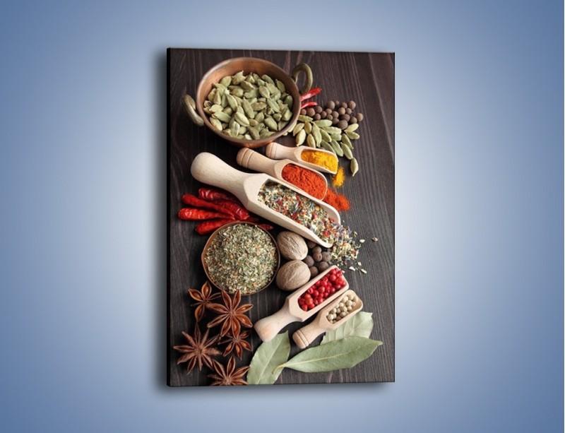 Obraz na płótnie – Dodatki do kuchni w miarkach – jednoczęściowy prostokątny pionowy JN527