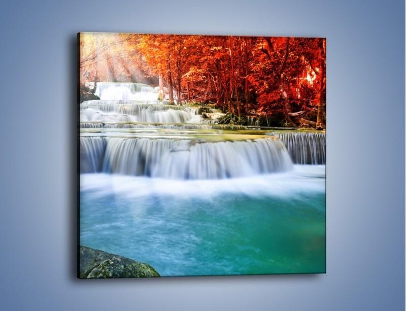 Obraz na płótnie – Jak przyjemnie nad wodą – jednoczęściowy kwadratowy KN1291A