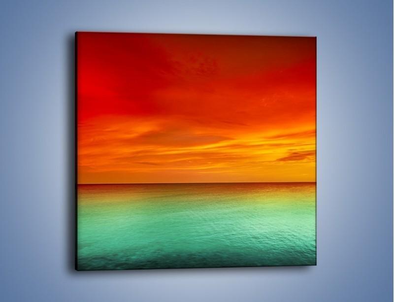 Obraz na płótnie – Horyzont w kolorach tęczy – jednoczęściowy kwadratowy KN1303A