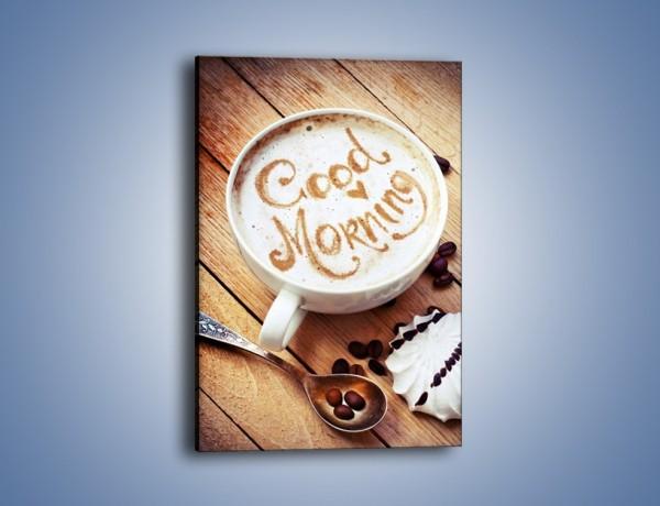Obraz na płótnie – Kawa z bezą – jednoczęściowy prostokątny pionowy JN605