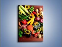 Obraz na płótnie – Warzywne szaleństwa na stole – jednoczęściowy prostokątny pionowy JN607