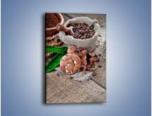 Obraz na płótnie – Ciasteczka idealne do kawy – jednoczęściowy prostokątny pionowy JN614