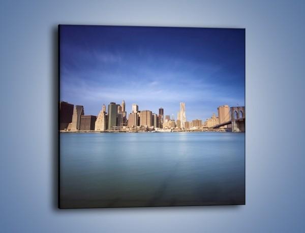 Obraz na płótnie – Nowy Jork i most Brookliński – jednoczęściowy kwadratowy AM351