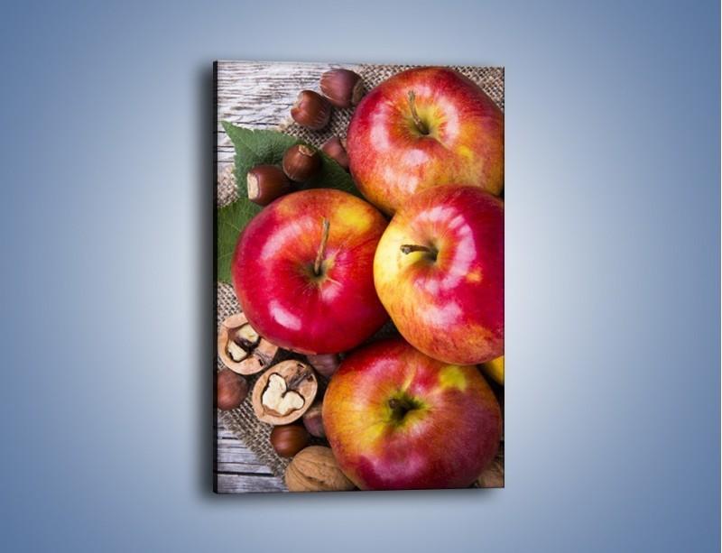 Obraz na płótnie – Jabłka z orzechami – jednoczęściowy prostokątny pionowy JN669