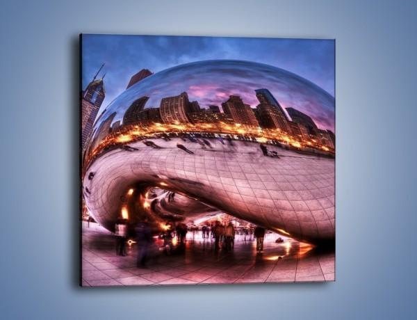 Obraz na płótnie – Cloud Gate w Chicago – jednoczęściowy kwadratowy AM352