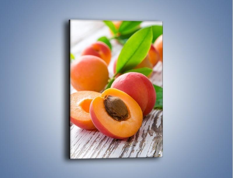 Obraz na płótnie – Idealne połówki nektarynek – jednoczęściowy prostokątny pionowy JN701