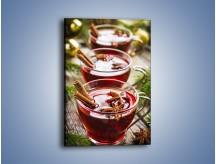 Obraz na płótnie – Grzane wino we troje – jednoczęściowy prostokątny pionowy JN703