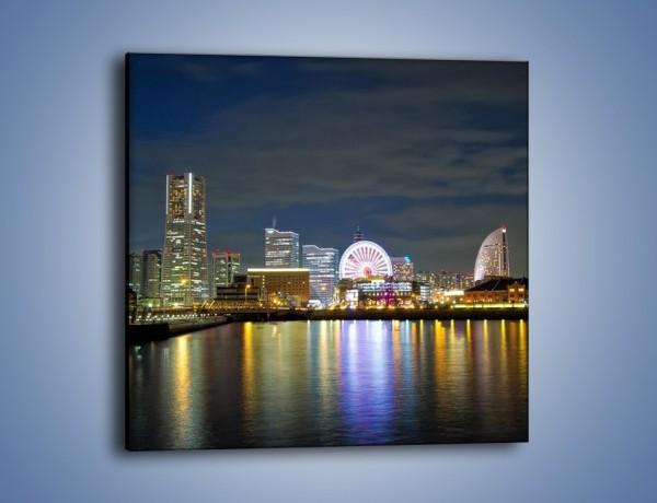 Obraz na płótnie – Yokohama nocą – jednoczęściowy kwadratowy AM353