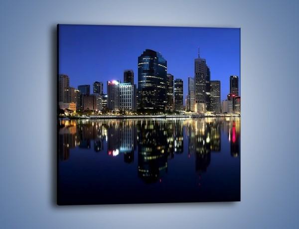 Obraz na płótnie – Brisbane w Australii nocą – jednoczęściowy kwadratowy AM354