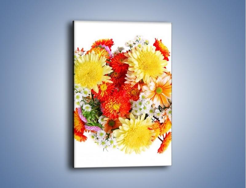 Obraz na płótnie – Bukiecik kwiatów z ogródka – jednoczęściowy prostokątny pionowy K118
