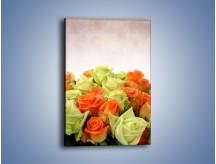 Obraz na płótnie – Dwa kolory w róży – jednoczęściowy prostokątny pionowy K132