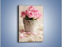 Obraz na płótnie – Doniczka pełna róż – jednoczęściowy prostokątny pionowy K196