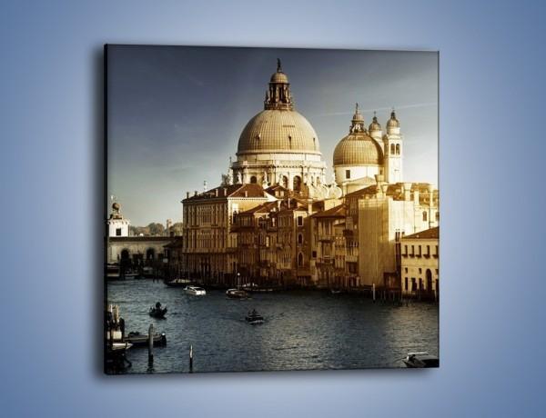 Obraz na płótnie – Zapadający zmrok na Wenecją – jednoczęściowy kwadratowy AM356