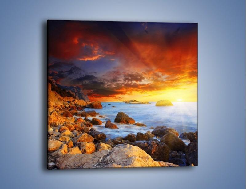 Obraz na płótnie – Słońce odbite w kamieniach – jednoczęściowy kwadratowy KN267