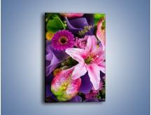 Obraz na płótnie – Barwna letnia wiązanka – jednoczęściowy prostokątny pionowy K460