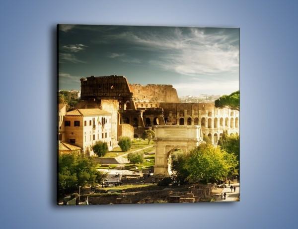 Obraz na płótnie – Ruiny starożytnego Rzymu – jednoczęściowy kwadratowy AM357