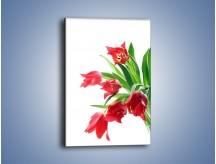 Obraz na płótnie – Dawno temu z tulipanem – jednoczęściowy prostokątny pionowy K547