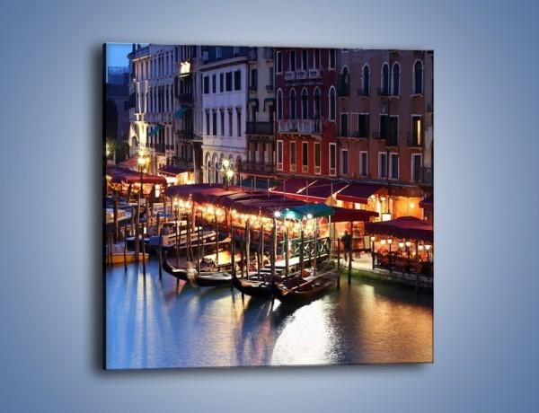 Obraz na płótnie – Wieczorowe życie w Wenecji – jednoczęściowy kwadratowy AM358