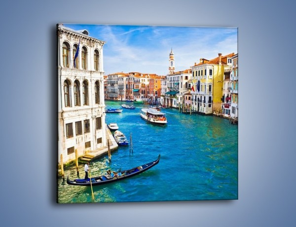 Obraz na płótnie – Kolorowy świat Wenecji – jednoczęściowy kwadratowy AM362