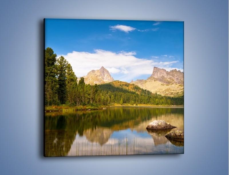 Obraz na płótnie – Widok nie tylko na góry – jednoczęściowy kwadratowy KN401