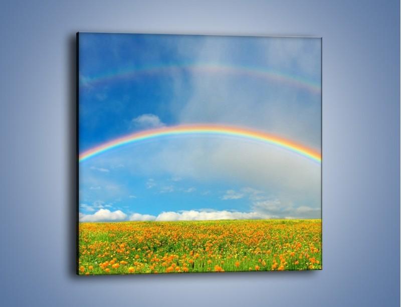 Obraz na płótnie – Urok kolorowej tęczy – jednoczęściowy kwadratowy KN406