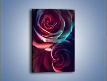Obraz na płótnie – Ciemność różanych główek – jednoczęściowy prostokątny pionowy K679