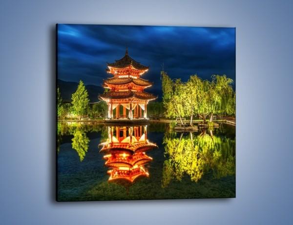 Obraz na płótnie – Urokliwy park w Chinach – jednoczęściowy kwadratowy AM365