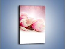 Obraz na płótnie – Gałąź magnolii na obłoku – jednoczęściowy prostokątny pionowy K817