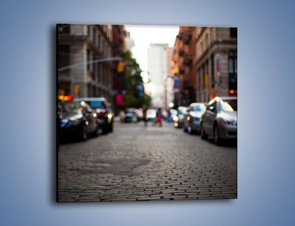 Obraz na płótnie – Rozmyty świat centrum miasta – jednoczęściowy kwadratowy AM367