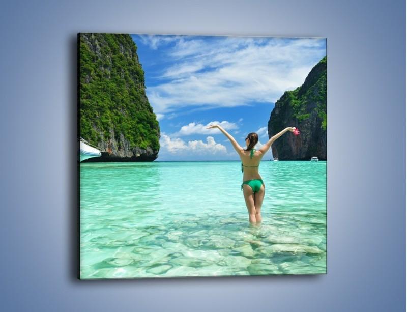 Obraz na płótnie – Udane wakacje w ciepłych krajach – jednoczęściowy kwadratowy KN530