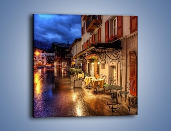 Obraz na płótnie – Romantyczne miasteczko pod Alpami – jednoczęściowy kwadratowy AM368
