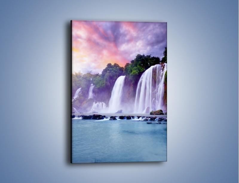 Obraz na płótnie – Wodospady jak z bajki – jednoczęściowy prostokątny pionowy KN026
