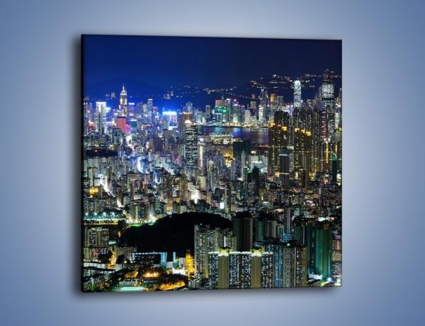 Obraz na płótnie – Drapacze chmur w Hong Kongu – jednoczęściowy kwadratowy AM369