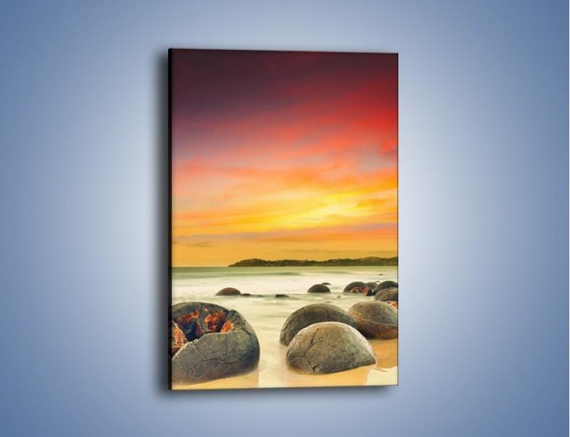 Obraz na płótnie – Popękane kamienne arbuzy – jednoczęściowy prostokątny pionowy KN1125A