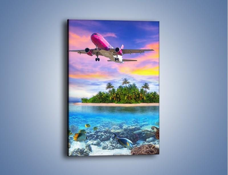 Obraz na płótnie – Powrót z bajkowych wakacji – jednoczęściowy prostokątny pionowy KN1157A