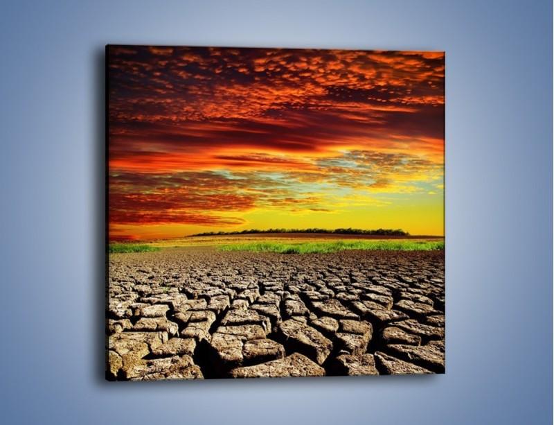 Obraz na płótnie – Spękane chmury i ziemia – jednoczęściowy kwadratowy KN602