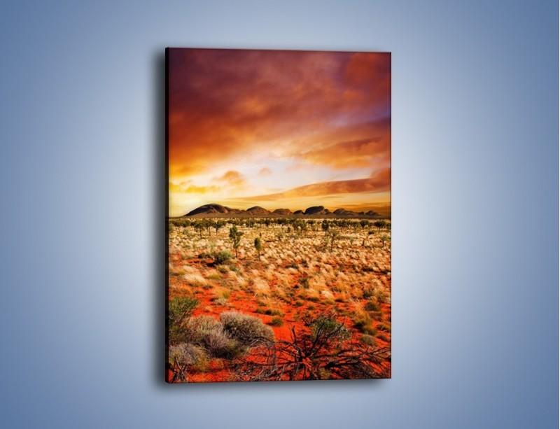 Obraz na płótnie – Oaza w kolorach ognistej ziemi – jednoczęściowy prostokątny pionowy KN192