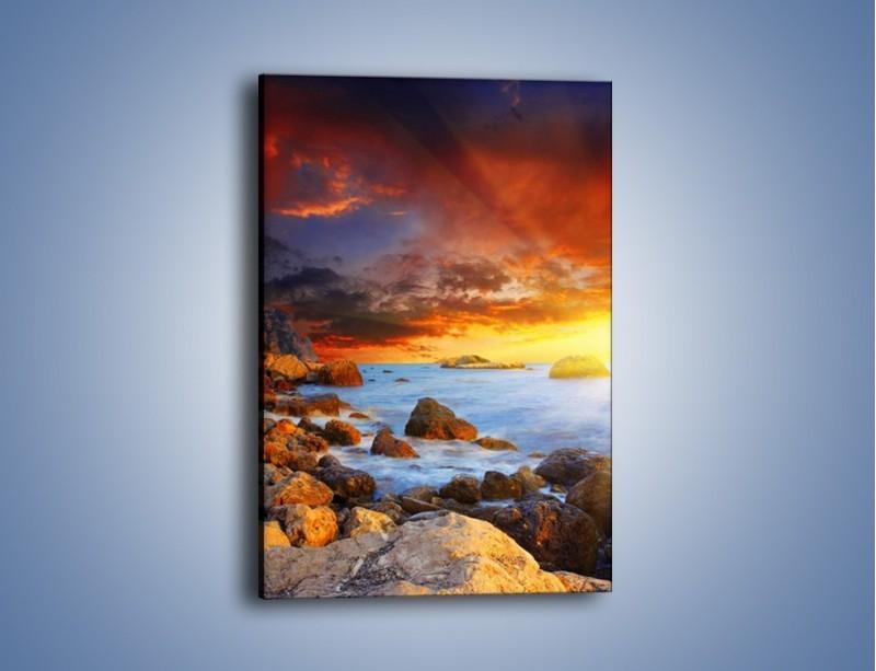 Obraz na płótnie – Słońce odbite w kamieniach – jednoczęściowy prostokątny pionowy KN267