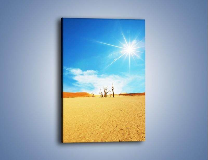 Obraz na płótnie – Błękit nieba i słońce w ziemi – jednoczęściowy prostokątny pionowy KN331