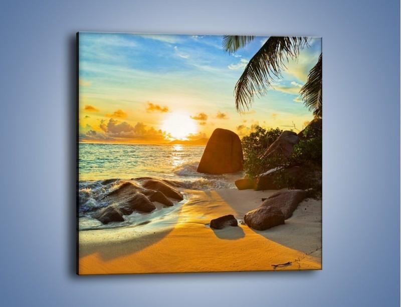 Obraz na płótnie – Spacer na bezludnej wyspie – jednoczęściowy kwadratowy KN671