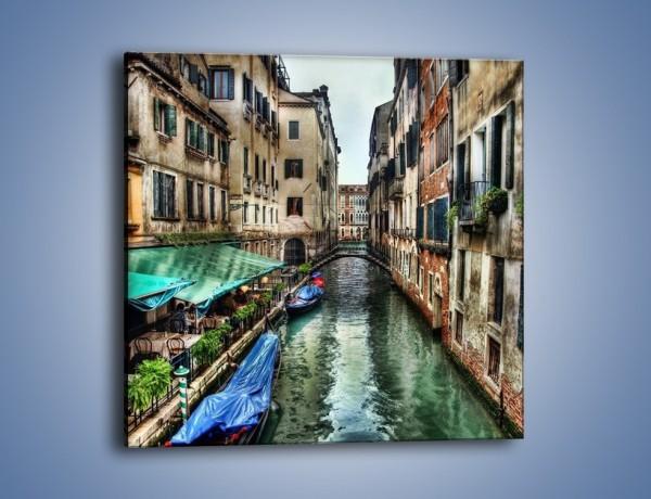 Obraz na płótnie – Wenecka uliczka w kolorach HDR – jednoczęściowy kwadratowy AM374