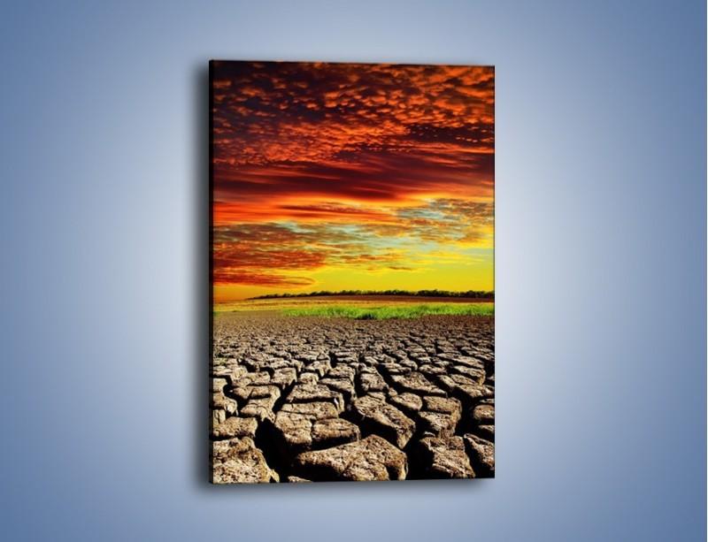 Obraz na płótnie – Spękane chmury i ziemia – jednoczęściowy prostokątny pionowy KN602