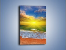Obraz na płótnie – Mały krok do morza – jednoczęściowy prostokątny pionowy KN842