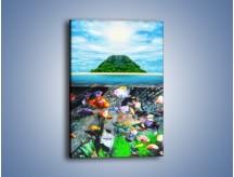 Obraz na płótnie – Kolorowy świat ryb – jednoczęściowy prostokątny pionowy KN906