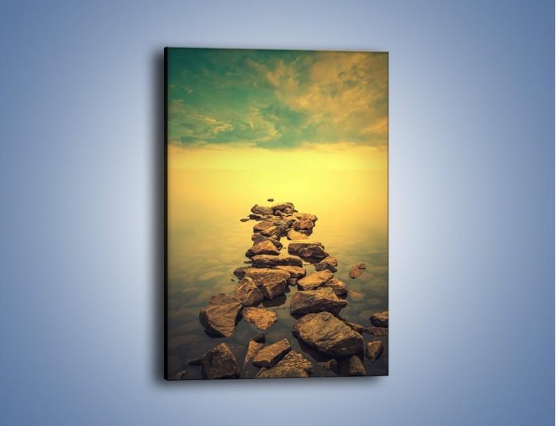 Obraz na płótnie – Zatopiona droga – jednoczęściowy prostokątny pionowy KN974