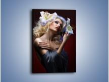 Obraz na płótnie – Kwiaty we włosach – jednoczęściowy prostokątny pionowy L067