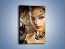 Obraz na płótnie – Czarna dama i woalka – jednoczęściowy prostokątny pionowy L077