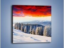 Obraz na płótnie – Cały urok gór zimą – jednoczęściowy kwadratowy KN805